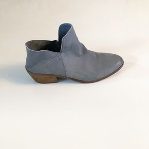 Sam Edelman Leather Gray Booties Size 9.5